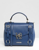 Love Moschino Satchel Buckle Tote Bag