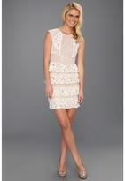 BCBGMAXAZRIA Kayla Lace Dress (Gardenia) - Apparel