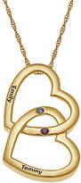 Fine Jewelry Personalized Birthstone Locking Hearts Pendant Necklace