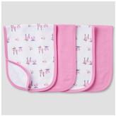 Gerber Baby Girls' 4 Pack Terry Burpcloth Set Bunny ;