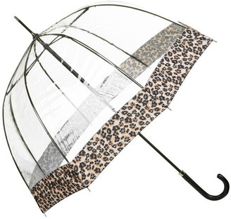 Fulton Birdcage Luxe Natural Leopard Umbrella