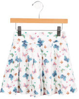 Rachel Riley Girls' Butterfly Print Pleated Skirt