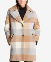 DKNY Woven Wool-Blend Walker Coat