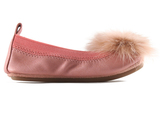 Yosi Samra Rose Fluff Toe Sonya Leather Ballet Flat