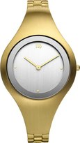 Danish Design Women's Quartz Watch with White Dial Analogue Display and Gold Stainless Steel Bangle DZ120144
