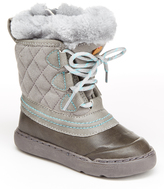 Step & Stride Gray Faux-Fur Marie Boot - Kids