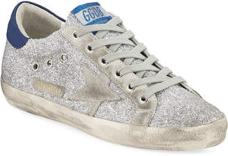 Golden Goose Superstar Glitter Fabric Sneakers