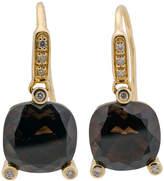 Poiray 18k Yellow Gold Smoky Quartz & Diamond Drop Earrings