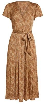 Paige Alayna Snake Print Midi Dress