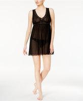 Thalia Sodi Lace-Trimmed Keyhole-Back Mesh Chemise, Created for Macy's