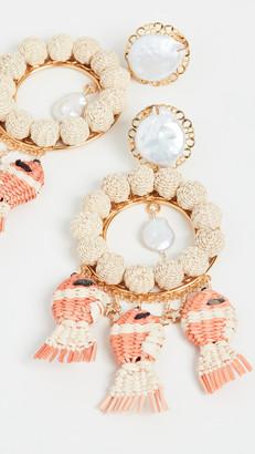 Mercedes Salazar Round Pearl Earrings