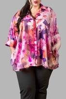 Yona New York Floral Charmeuse Pink Top