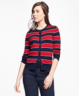 Brooks Brothers Merino Wool Striped Cardigan