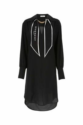 Givenchy Logo Scarf Collar Shirt Dress