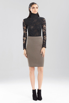 Josie Natori Double Face Bonded Jersey Pencil Skirt