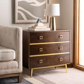 Bungalow Rose Bronaugh 3 Drawer Dresser Color: Walnut
