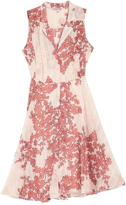 Nanette Lepore Floral Sleeveless Button Front A-Line Dress