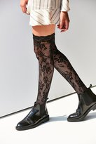 Out From Under Floral Cuff Thigh High Sock