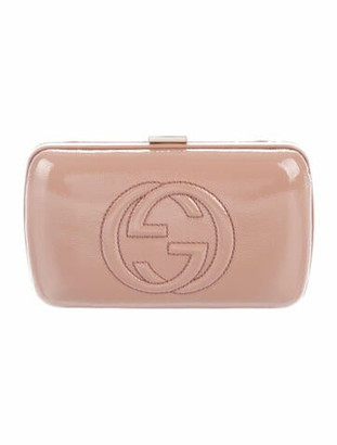 Gucci Soho Hard Case Clutch Nude