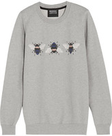 Markus Lupfer Bumble Embroidered Printed Cotton Sweatshirt - Gray