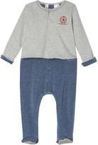 Petit Bateau Cotton striped babygrow with jacket 0-12 months