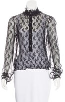 Dolce & Gabbana Floral Lace Long Sleeve Top