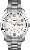 Timex Men's Dress Watch White Dial Stainless Steel Bracelet