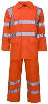 Fashion Box Hi Viz Waterproof Rainsuit Set High Vis Visibility Jacket & Trouser