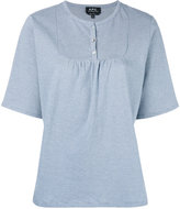 A.P.C. bib short sleeve T-shirt - women - Cotton - M