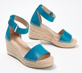 Franco Sarto Leather Espadrille Wedges - Clemens