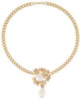 Ingie Paris leaf drop chain necklace