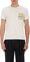 Visvim Men's Contrast Pocket Heathered Jersey T-Shirt-TAN