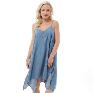 Animal Womens Boho Betty Woven Dress Chambray Blue