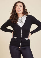 ModCloth Flawlessly Polished Cardigan in Black in L