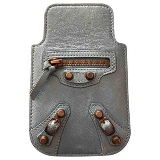 Balenciaga Blue Leather Accessories