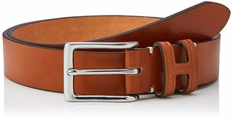 Hackett London Men's Tack Stitch H Keeper Belt