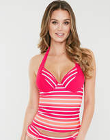 Just Peachy By Figleaves.com Framboise Underwired Halter Tankini Top