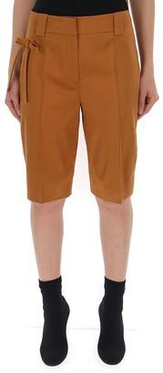 Prada Bow-Detail Tailored Shorts