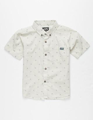 Billabong All Day Jacquard Little Boys Shirt (4-7)