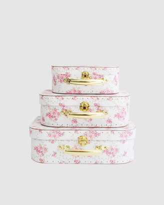 Alimrose - Girl's Pink Accessories - Kids Carry Case Set Floral Wreath - Size One Size, One size at The Iconic