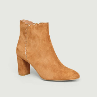 Petite Mendigote Coffee Goat Leather Mauricette Ankle Boots - leather   39   coffee - Coffee