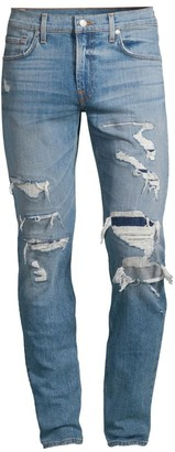 7 For All Mankind Ryley Resurrection Distressed Skinny Jeans