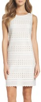 Eliza J Petite Women's Laser Cut Scuba Dress
