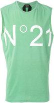No.21 printed vest top - men - Cotton - XS