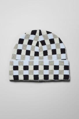 Weekday The Check Beanie - Blue