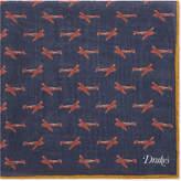 Drakes Model Planes Wool-silk Pocket Square