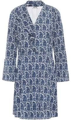 Derek Lam 10 Crosby Cutout Printed Crepe De Chine Mini Dress
