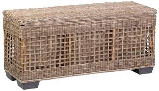 Pottery Barn Rattan Shoe Storage Bench