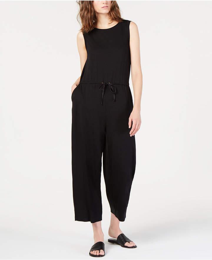 Eileen Fisher Cropped Drawstring Tencel Jumpsuit, Regular & Petite