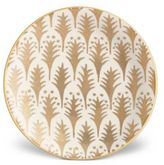 L'OBJET Fortuny Piumette Earthenware 24K Gold-Finish Canape Plates/Set Of 4